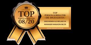 Markus Eggersdorfer - TOP Personalberater 08/2020 / Manager Magazin